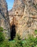 The original Camino Del Rey, El Chorro, Andalucia. Stock Images