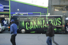 The Original Canna Bus royalty free stock images