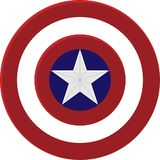 Captain America Shield royalty free illustration