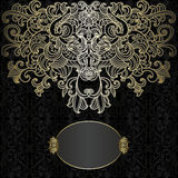 Original card with black and gold design Royalty Free Stock Photos