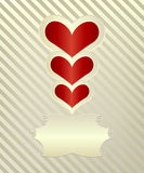 Original card valentine Royalty Free Stock Photo