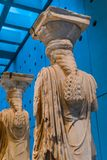 Original Caryatids Ruins Temple Erechtheion Acropolis Museum Ath Royalty Free Stock Image