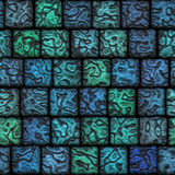 Original ceramic tiles a beautiful seamless mosaic. Original blue ceramic tiles a beautiful seamless mosaic vector illustration