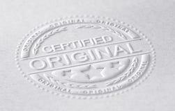 Original certificada ilustración del vector
