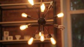 Original chandelier lights stock video