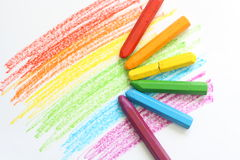 Crayon colors Royalty Free Stock Photo