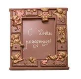 Original chocolate souvenir as gift on birthday Royalty Free Stock Photos