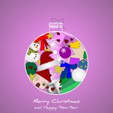 Original Christmas background Royalty Free Stock Photo