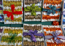 Original christmas sweetness from Hungary name is szaloncukor ak Stock Photos
