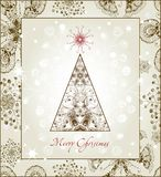 Original Christmas Tree Card. EPS 10. Original Christmas Tree Card. Beautiful vector illustration, detailed elaboration Stock Illustration
