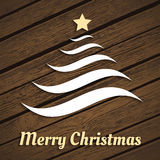 Original Christmas tree from waves Stock Photography