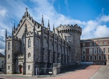 Original church and tower of The Castle, Dublin Ireland. Stock Images