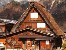 Original classic house in heritage village. Classic house in Shirakawago village, Japan Stock Photos