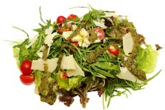 Original Classic Vegetarian Mixed Italian Salad Close-Up Top Vie Stock Images