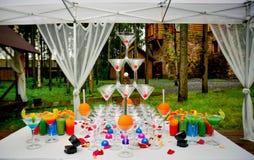 Original cocktail table Stock Photo