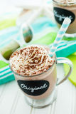 Original cold chocolate drink Stock Images