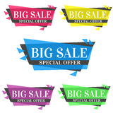 Original colorful Big Sale - special offer banners. Stock Images