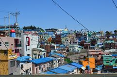 Original and Colorful Buildings in Pusan, South Korea Stock Photos