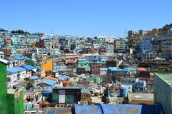 Original and Colorful Buildings in Pusan, South Korea Royalty Free Stock Photography
