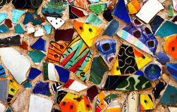 Original colorful mosaic on a street wall Stock Photography