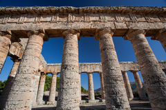 The original columns of Segesta, Sicily Royalty Free Stock Images