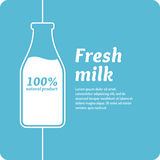 The original concept poster to advertise milk. Vector illustration Royalty Free Stock Photos