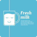 The original concept poster to advertise milk. Vector illustration Stock Photography