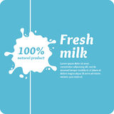 The original concept poster to advertise milk. Royalty Free Stock Photo