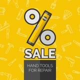Original concept of repare poster discount sale Stock Photos