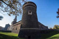 Castello Sforzesco, Milan stock photography