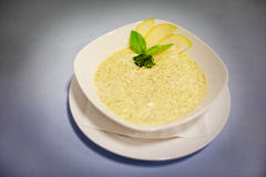 Original cream soup with apple Royalty Free Stock Photos