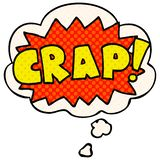 A creative cartoon word Crap! and thought bubble in comic book style. An original creative cartoon word Crap! and thought bubble in comic book style stock illustration
