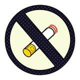 A creative comic book style cartoon no smoking allowed sign. An original creative comic book style cartoon no smoking allowed sign stock illustration