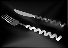 Original and creative cutlery Stock Image