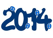 Original 2014. Creative design of original 2014 Royalty Free Stock Photo