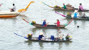 Original culture of the people living near the river in Thailand. stock video footage
