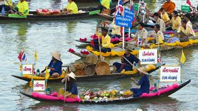 Original culture of the people living near the river in Thailand. stock footage