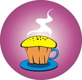 The original cup cake made from cup. The delicious cup cake made from cup complete with stalk Royalty Free Stock Photo