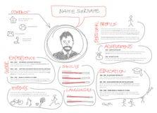 Original cv / resume template royalty free illustration