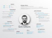 Original cv / resume template. Vector original minimalist cv / resume template - creative version vector illustration