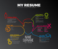 Original cv / resume template Royalty Free Stock Photo