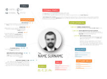 Original cv / resume template Royalty Free Stock Photos