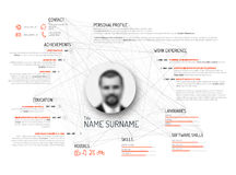 Original cv / resume template Stock Images