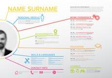 Original cv / resume template. Vector original minimalist cv / resume template with profile photo - creative version stock illustration