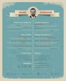 Original cv / resume template Stock Photos