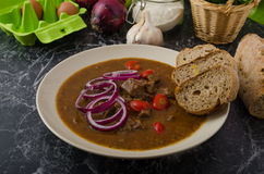 Original Czech beef goulash Stock Images