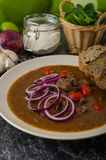 Original Czech beef goulash Royalty Free Stock Photography