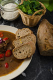 Original Czech beef goulash Royalty Free Stock Photo