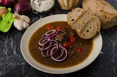 Original Czech beef goulash Stock Photography