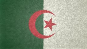 Original 3D image of the flag of Algeria. Useful also as texture Royalty Free Stock Photos